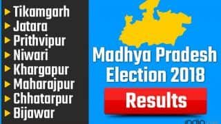 Madhya Pradesh Election 2018 Results: Tikamgarh, Jatara, Prithvipur, Niwari, Khargapur, Maharajpur, Chhatarpur, Bijawar Vote Counting Live Updates