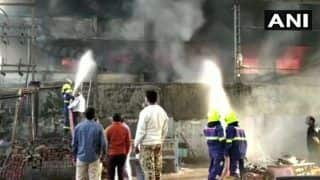 Fire Breaks Out at a Cloth Factory in Maharashtra's Bhiwandi, Firefighting Ops Underway