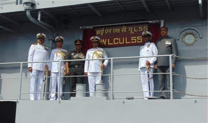 Indian Navy Commissions Indigenously Built Landing Craft Utility Ship L-55