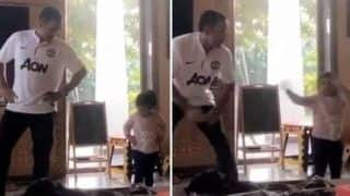 MS Dhoni Matches Dance Steps With Daughter Ziva on 'Better When I'm Dancing' Song. Video Will Make You go Aww - Watch