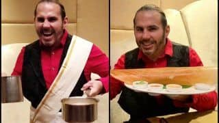WWE Superstar Matt Hardy Wears Traditional Attire And Indulges in South Indian Cuisine in Chennai - Watch Video