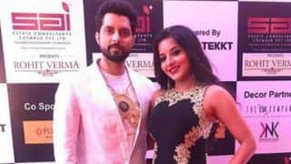 Bhojpuri Bomb And Nazar Fame Monalisa Looks Uber Hot in Black-Golden Gown as She Strikes a Pose With Vikrant Singh Rajput - See Pictures