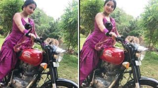 Bhojpuri Hot Bomb And Nazar Fame Monalisa Looks Unapologetically Sexy as She Rides a Bike in Her Daayan Avatar - See Picture