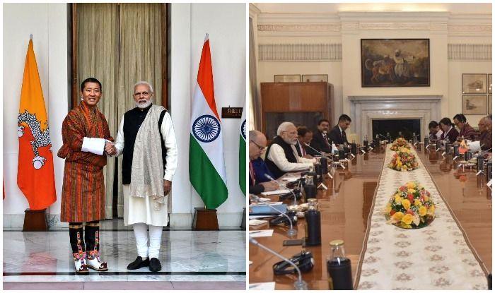 भारत दौरे पर भूटान के प्रधानमंत्री: पीएम मोदी के साथ पनबिजली परियोजनाओं की हुई समीक्षा
