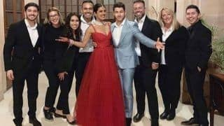 Priyanka Chopra-Nick Jonas' Umaid Bhawan Wedding Reception Pics: Couple Looks Gorgeous in Red And Grey Hosting Friends And Family
