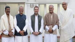 Assembly Elections 2018: Chhattisgarh Chief Minister Name to be Declared After 12 PM Today; Rahul Gandhi Posts Photo With Top Contenders