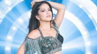 Sunny Leone Looks Hot AF in Sexy Green Blouse And High Slit Skirt as She Flaunts Her Washboard Abs in Her Latest Picture