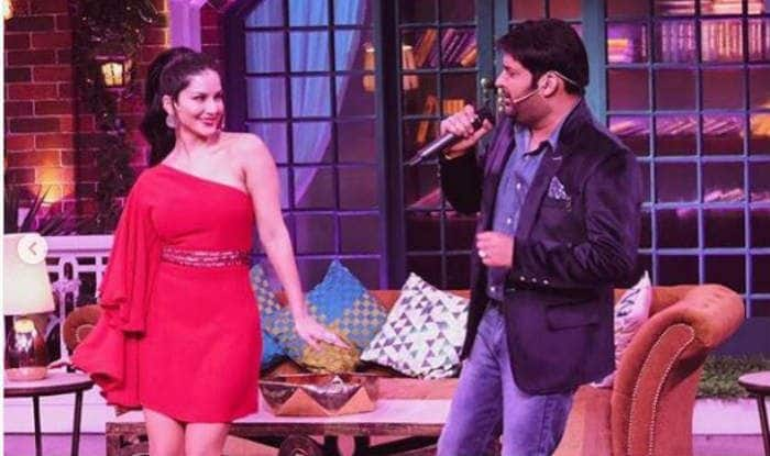 Sunny Leone and Kapil Sharma on The Kapil Sharma Show