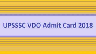 UPSSSC VDO Admit Card 2018 Likely to be Released Soon on Official Website upsssc.gov.in
