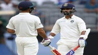 2nd Test Perth Australia vs India: Virat Kohli, Ajinkya Rahane Fifties Lift India to 172/3 After Poor Start Against Australia on Day 2