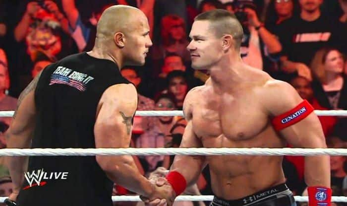 WWE's John Cena and The Rock_Picture credits-Twitter