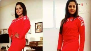 Bhojpuri Bomb Anjana Singh Looks Super Hot in Red Short Dress, Pics Will Make Fans go Crazy-Check Out