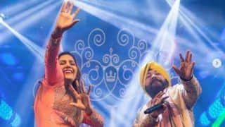 Haryanvi Sensation Sapna Choudhary Ditches Hot Thumkas, Performs Bhangra With Daler Mehndi in a Delhi Event, Take a Look