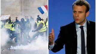 पेरिस: प्रदर्शनकारियों को मैक्रों की चेतावनी कहा, मैं किसी भी सूरत में हिंसा स्वीकार नहीं करूंगा