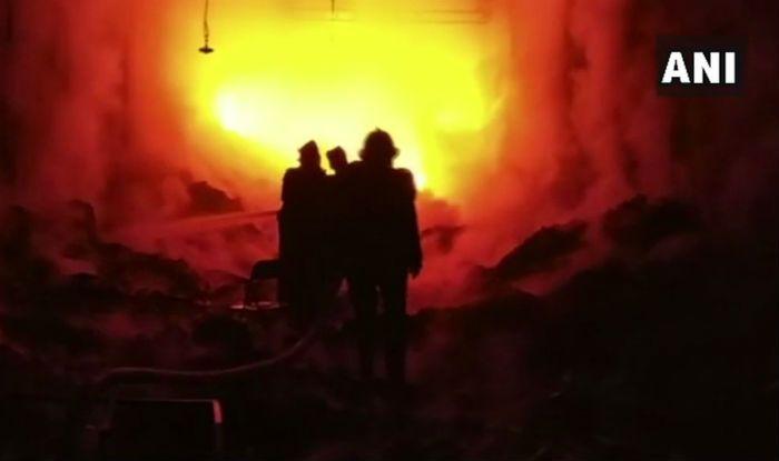 Bihar: Fire Breaks Out in Jute Godown in Katihar, Fire-fighting Operations Underway