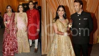 Isha Ambani-Anand Piramal Second Wedding Reception Pics: Couple Poses With Their Families, Big Names Arrive