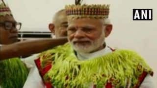 Modi in Andaman News : PM Interacts With Tribal Chiefs in Car Nicobar