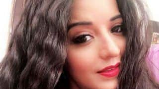 Bhojpuri Bomb And Nazar Fame Monalisa Looks Hot in a Black See Through Top And Red Lipstick, See Pic