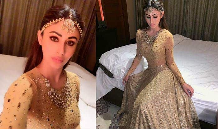 Naagin Actress Mouni Roy Stuns in a Golden Lehenga, Posts Gorgeous Photos on Instagram