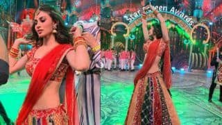 Star Screen Awards 2018: Mouni Roy Looks Hot And Sexy in Red Lehenga as She Dances on Stage, See Pictures