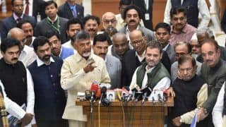 Day Ahead of Assembly Poll Results, Show of Strength by Leaders of Over Dozen Anti-BJP Parties