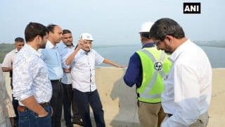 Goa Chief Minister Manohar Parrikar Makes Surprise Visit to Upcoming Bridge Site
