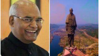 आज 'स्टैच्यू ऑफ यूनिटी' देखने जाएंगे राष्ट्रपति कोविंद, केवड़िया में रखेंगे रेलवे स्टेशन की नींव