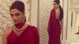 Deepika Padukone Redefines Elegance in Red Saree at Isha Ambani's Party, See Pics
