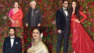 Deepika Padukone - Ranveer Singh Mumbai  Reception Guests: Shabana Azmi, Javed Akhtar, Rekha, Sara Ali Khan, Vicky Kaushal Attend The Couple's Ceremony