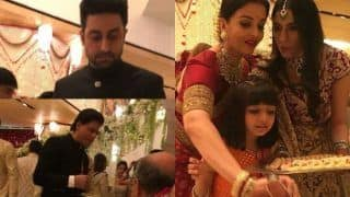Abhishek Bachchan Reacts to Amitabh Bachchan, Shah Rukh Khan And Other Celebs Serving Food at Isha Ambani- Anand Piramal's Wedding