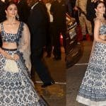 Alia Bhatt Looks Stunning in Blue And Off-White Shimmery Outfit by Manish Malhotra at Isha Ambani And Anand Piramal's Wedding, See Pictures