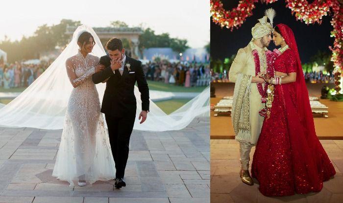 Priyanka Chopra – Nick Jonas Wedding First Look: Couple Shines Bright Like a Diamond in Ralph Lauren And Sabyasachi Mukherji Designs; See Pictures