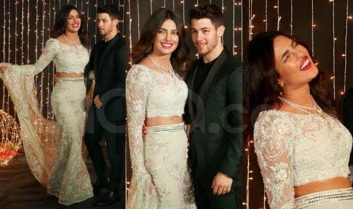 Priyanka Chopra Wears a Hand Embroidered Abu Jani-Sandeep Khosla Outfit at Her Wedding Reception, See Her Stunning Photos