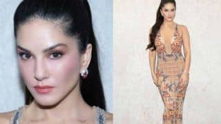 Sunny Leone Flaunts Her Hot Toned Figure in a Sexy See-Through Nude Colour Gown, See Pictures