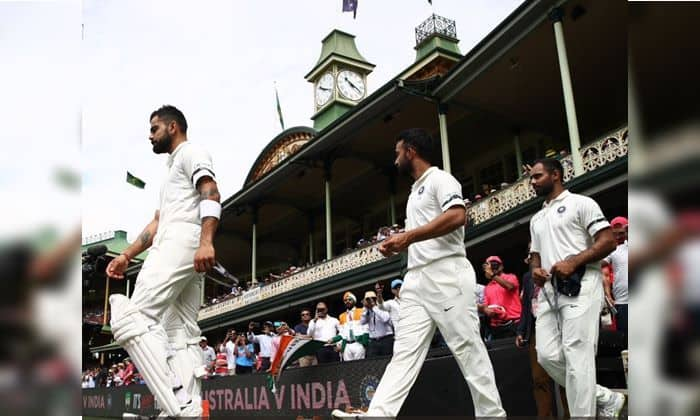 Indian Cricket Team Wearing Black Armbends