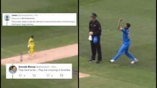 India vs Australia 3rd ODI Melbourne: Twitterverse Hails Bhuvneshwar Kumar For Trying Unique Delivery, Slams Aaron Finch And Umpire For Oversmart Attitude | WATCH