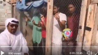 पिंजरे में कैद हुए भारतीय फुटबॉल टीम के प्रशंसक, एएफसी एशियाई कप में UAE के समर्थन की शर्त पर छूटे
