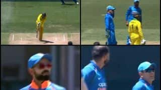 1st ODI Sydney: MS Dhoni Gets DRS Wrong by Asking Virat Kohli Not to go For it After Replays Show Mohammed Shami Had Got Wicket | WATCH