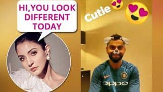 2nd ODI India vs Australia: Anushka Sharma Uses a Funny Snapchat Filter On Husband Virat Kohli After 39th Century at Adelaide, Feels He Looks 'Different' | WATCH
