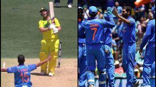 India vs Australia 2nd ODI: Bhuvneshwar Kumar Cleans Bowls Aaron Finch as Virat Kohli's India Draw First Blood | WATCH