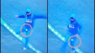 2nd ODI India vs Australia Adelaide: Ravindra Jadeja Escapes Serious Injury While Trying to Save A Boundary of Glenn Maxwell's Bat | WATCH
