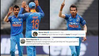 3rd ODI: Yuzvendra Chahal Surpasses Coach Ravi Shastri's Record, Picks up Best Figures For an Indian Spinner Versus Australia in Australia; Twitter Applauds Wristspinner