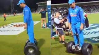 1st ODI India vs New Zealand: After Virat Kohli, MS Dhoni Aces The Segway | WATCH VIDEO