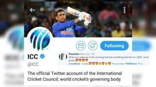 MS Dhoni Picture Becomes ICC's Profile Picture on Twitter, Fans Rejoice | PIC