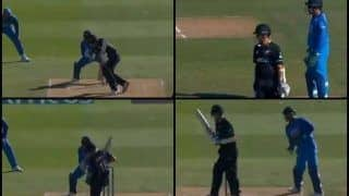 1st ODI India vs New Zealand: Trent Boult's Bizarre Defense Technique Baffles MS Dhoni, Yuzvendra Chahal   WATCH VIDEO