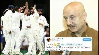 India vs Australia 4th Test Sydney: Actor Anupam Kher Lauds 31-Year-Old Record, as Virat Kohli-Led Team India Enforce Follow-on in SCG