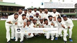 India vs Australia 2018-19 Tests: From Virat Kohli, KL Rahul to Cheteshwar Pujara, Jasprit Bumrah, How Team Members Rejoiced on Twitter After Scripting History