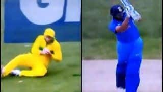 3rd ODI India vs Australia Melbourne: Shaun Marsh Takes a Sharp Catch at Slips to Dismiss Rohit Sharma of Peter Siddle   WATCH