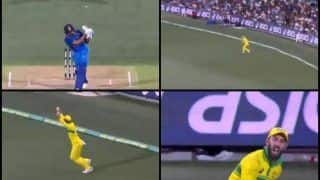 2nd ODI India vs Australia Adelaide: Virat Kohli's Falls After Record-Breaking 39th Hundred, Glenn Maxwell Takes a Brilliant Catch to Dismiss India Captain | WATCH