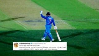 2nd ODI India vs Australia: Why is MS Dhoni's Modest Gesture Adelaide Trending And Virender Sehwag's Reaction?   PIC